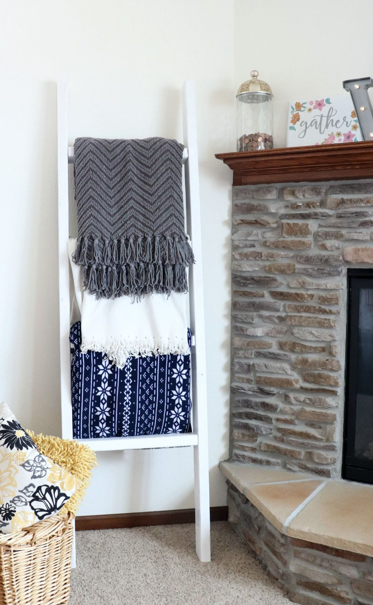 Pinterest Diy Home Decor How To Make A 2x4 Blanket Ladder The Group Board On Pinterest
