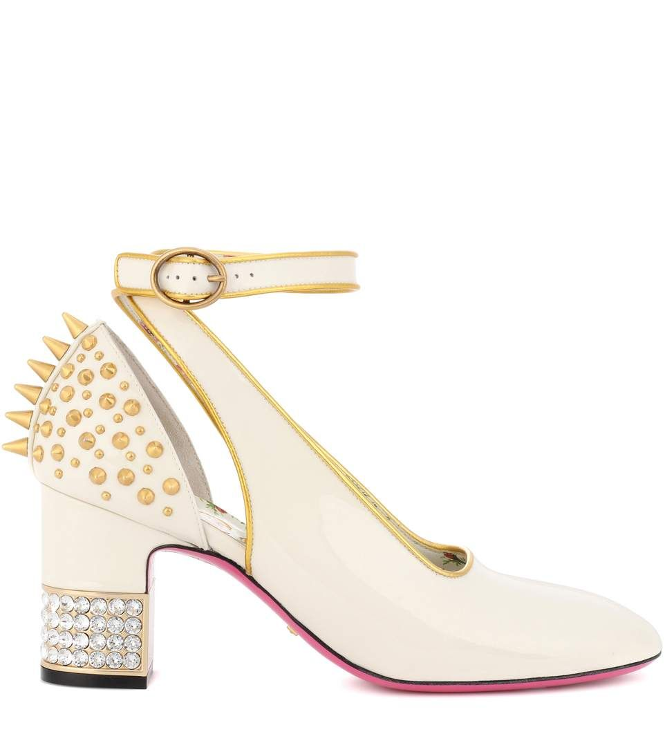 c3df5313136 Studded Patent-Leather Pumps - Gucci