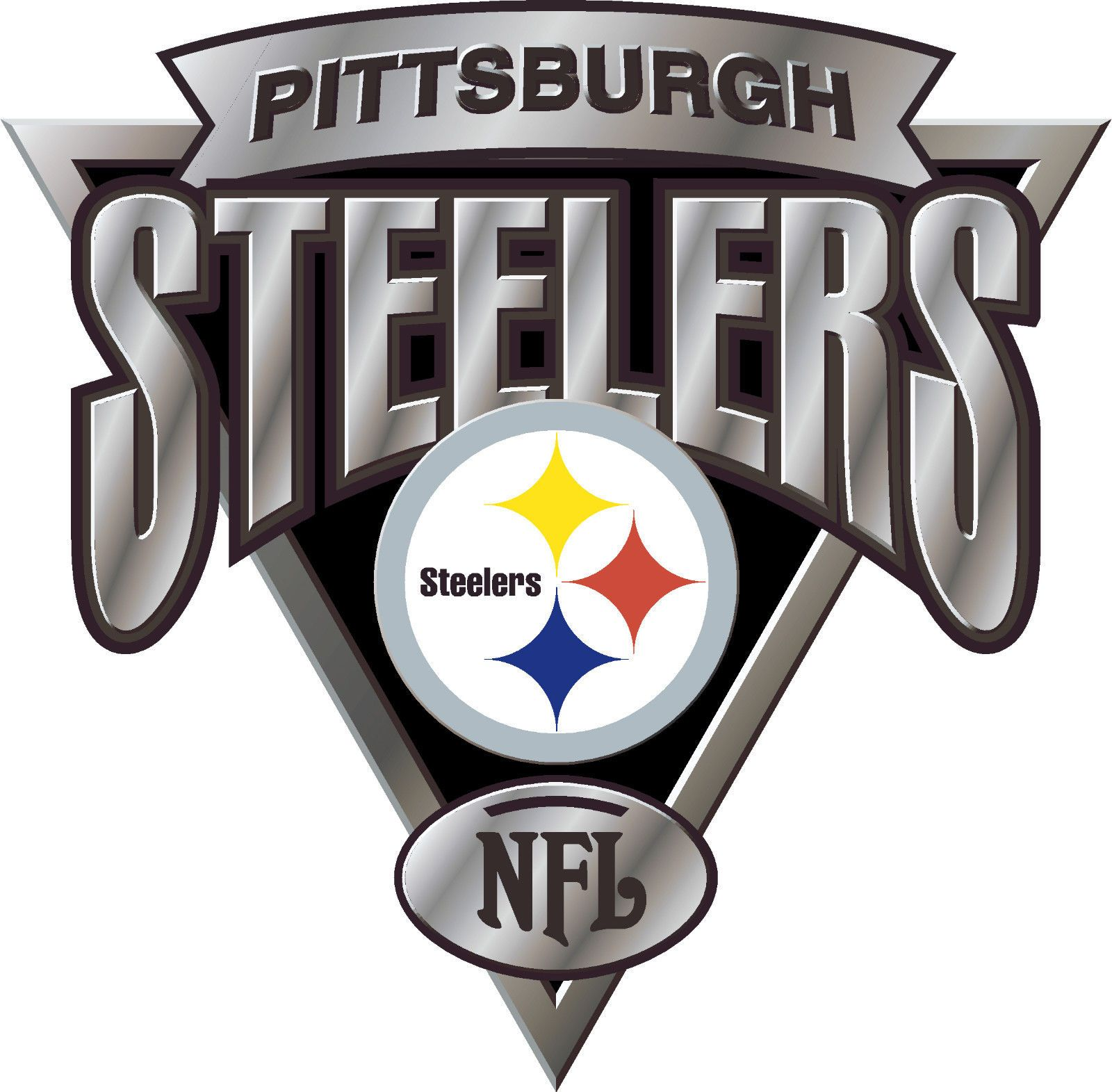 Pittsburgh Steelers 5 Nfl Team Logo Vinyl Decal Sticker