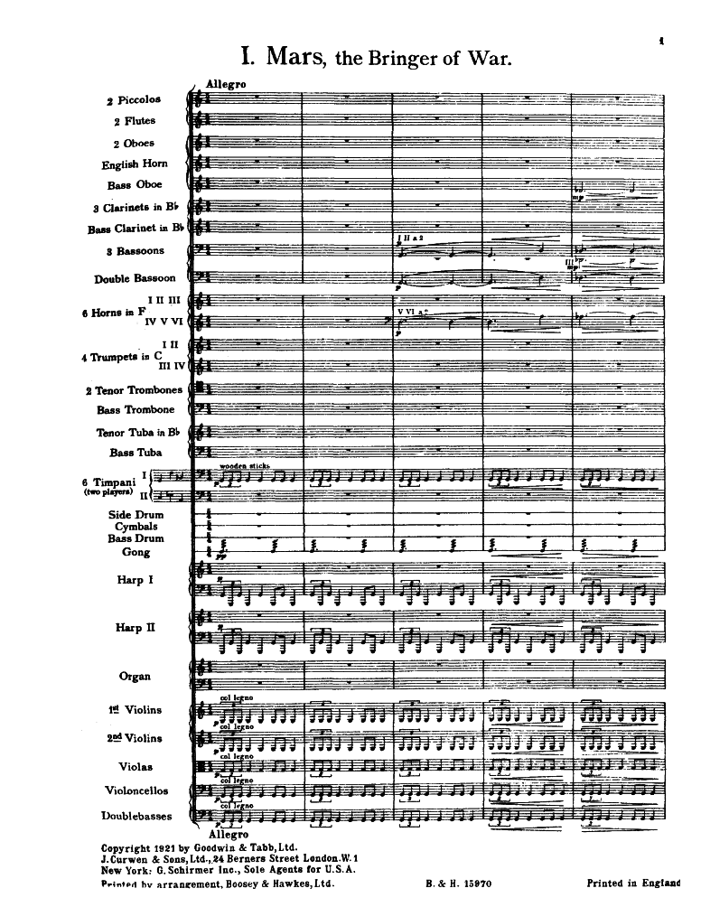 The Planets, Op 32 (Holst, Gustav) - IMSLP/Petrucci Music Library