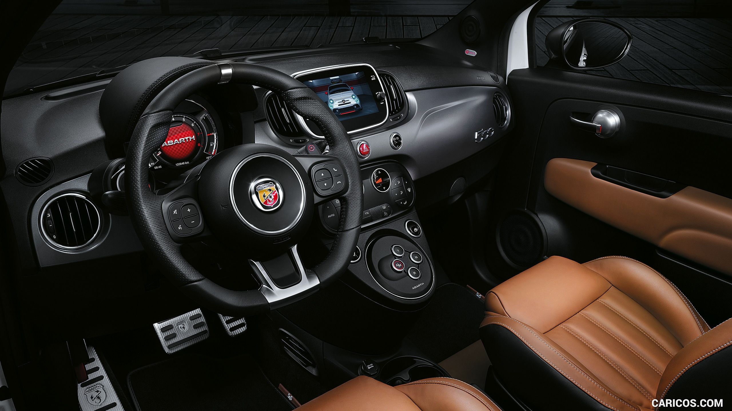 2017 Abarth 595 Color Modena Yellow Interior Hd Con Imagenes