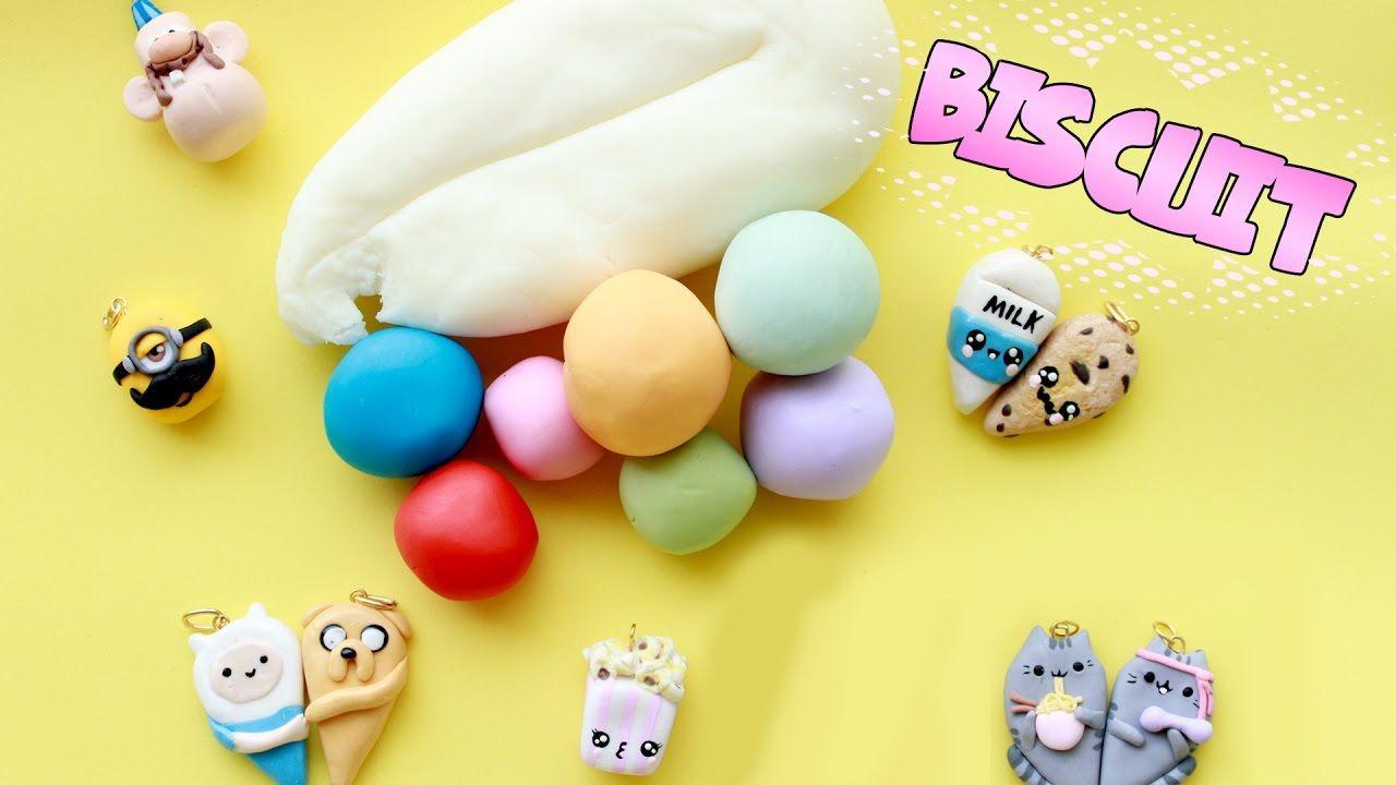 Como fazer MASSA de BISCUIT caseira e colorida FUNCIONA #biscuit #diy #receita #caseira #maisena #funciona #polymer #clay