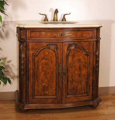 Antique Walnut Bathroom Vanity Walnut 36 H X 36 W X 20 D By Legion Furniture 1275 00 Size Legion Furniture Wood Bathroom Vanity Antique Bathroom Vanity
