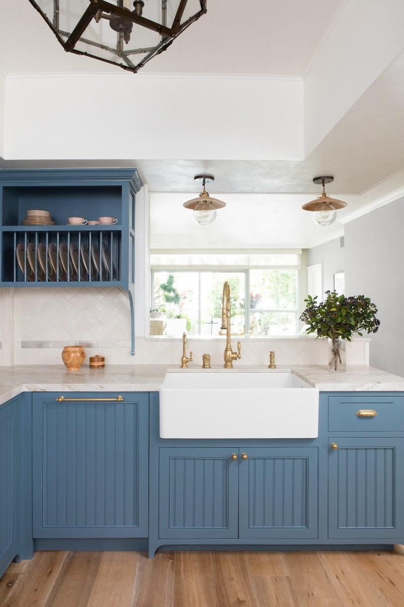 The Best 10 Blue Paint Colors For Kitchen Cabinets In 2020 Kitchen Cabinet Design Farmhouse Kitchen Cabinets Kitchen Design