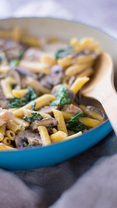Chicken Mushroom Penne Pasta Recipe Casseroles Pasta Penne