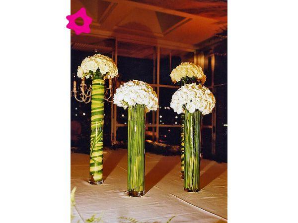 Centro de mesa para boda minimalista con base de cristal - Mesas de cristal para bodas ...