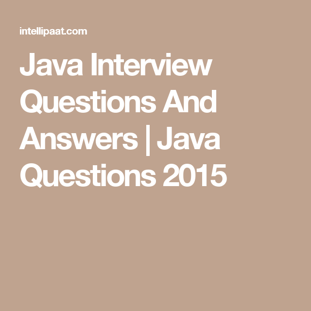 Java Interview Questions And Answers | Work | Bible quiz