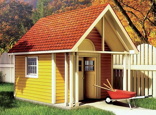 Fancy Storage Shed Project Plan 90020 | This Storage / #Garden Shed Is  Simply Designed