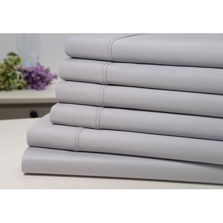 Bibb Home 1100 Thread Count Cotton Blend 6 Piece Sheet Set