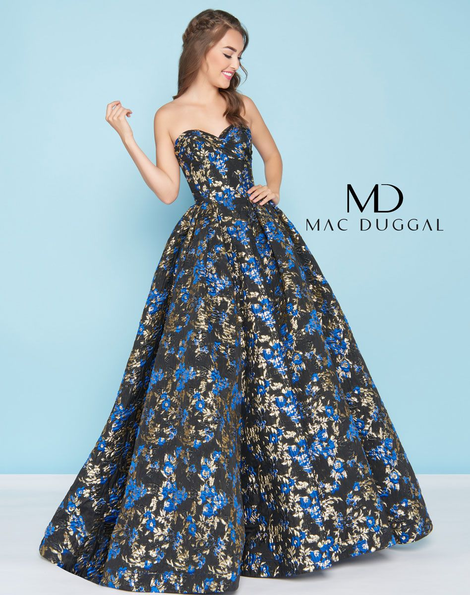 ad61a6152161 66555H - Mac Duggal Ball Gown   Prom   Prom dresses, Strapless dress ...