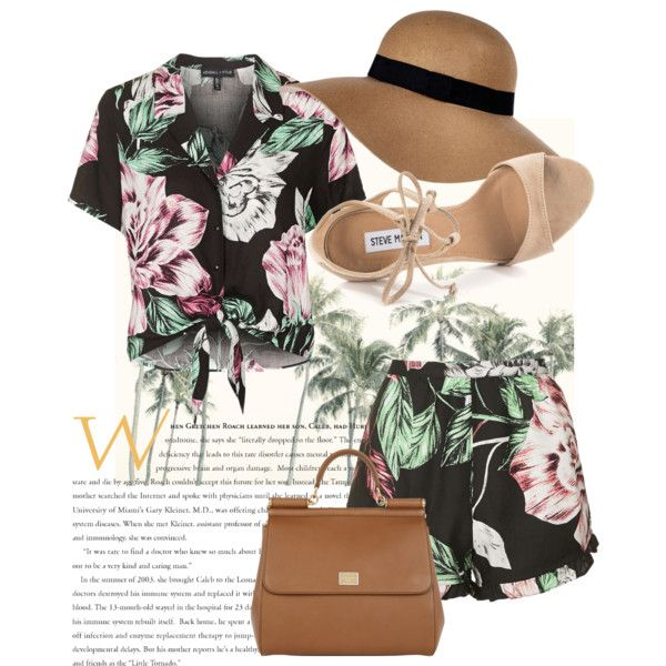 Polyvore featuring polyvore fashion style Topshop Steve Madden Dolce&Gabbana River Island