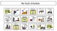 Free Printable Boardmaker Symbols  Mayer Johnson Daily Schedule