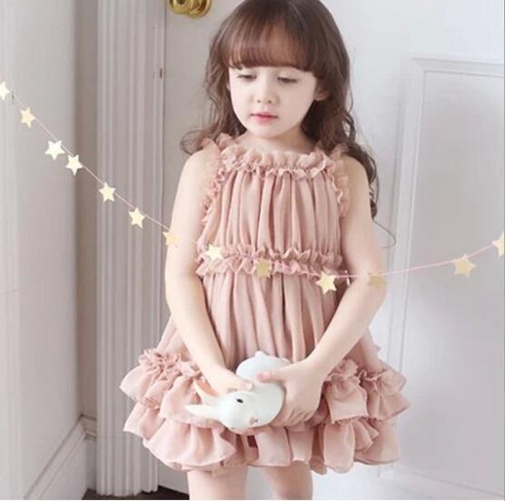 6e829d31cc668 2015 Child Girl Dress Children Girl s Spring Summer Chiffon Princess ...