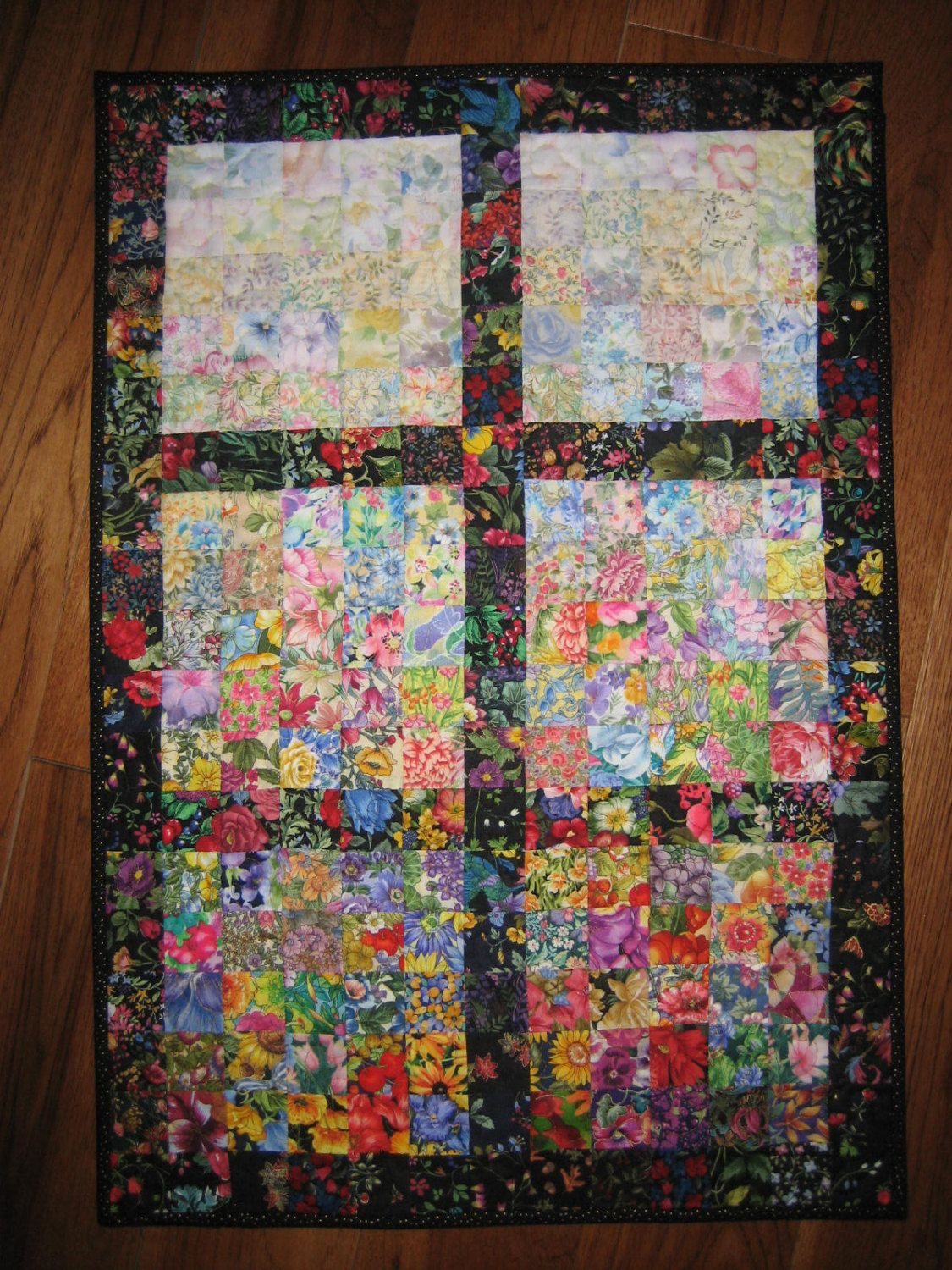 Art Quilt Window Watercolor Fabric Wall Hanging Via Etsy