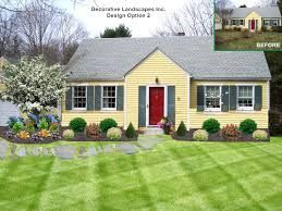 Front Yard Landscaping Plans Garden Design With Ideas For Shrubs The Inspirations From