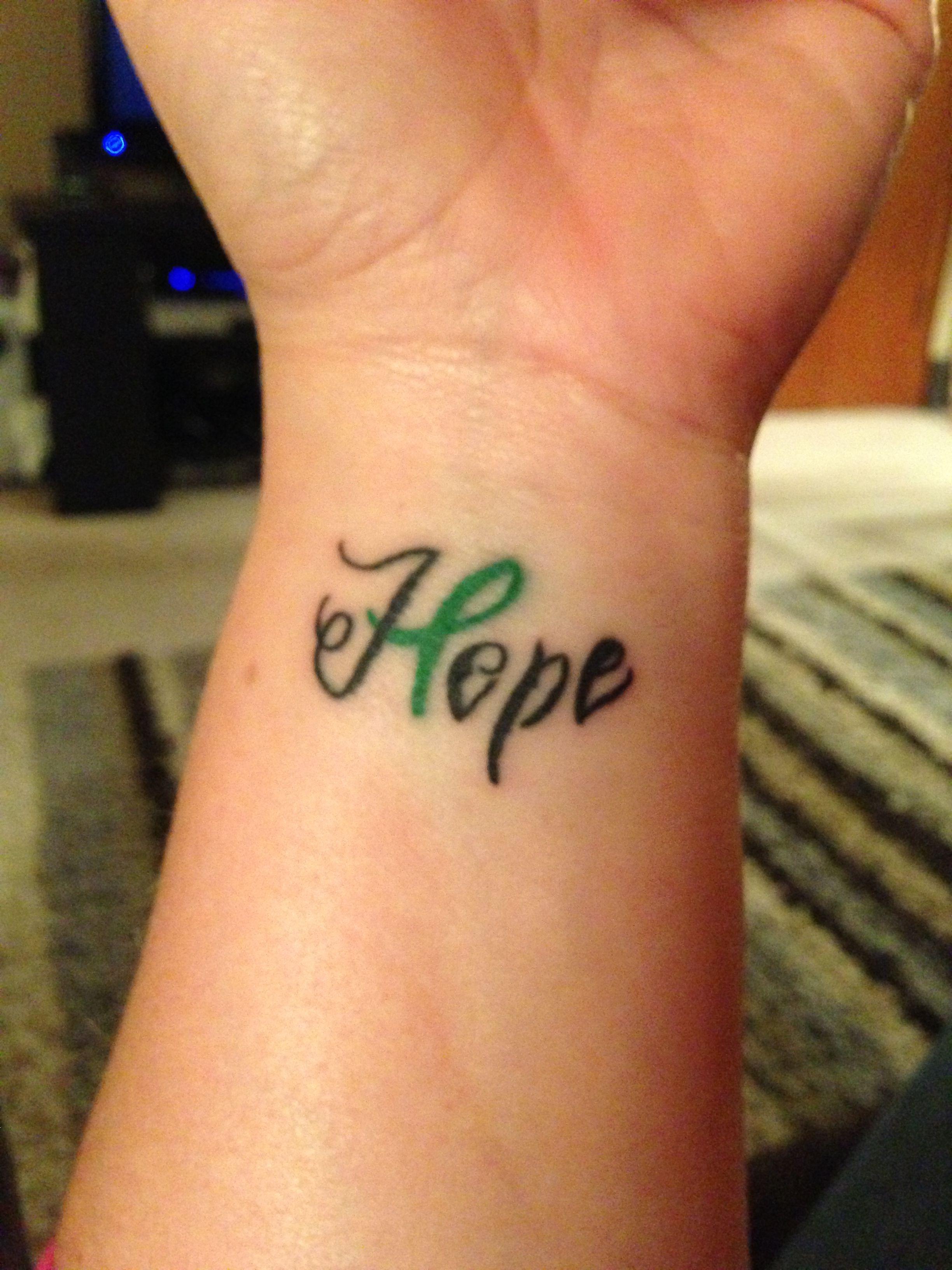 Tatuaje Lazo Cancer traumatic brain injury awareness ribbon #tattoo #hope #supporting my