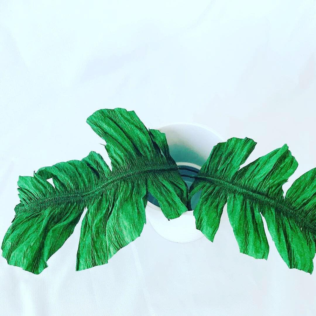 Aprende a elaborar hermosas hojas tropicales como estas hojas de ...