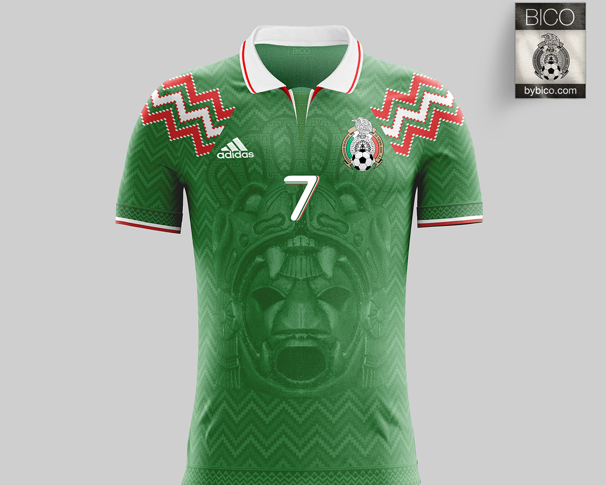 Mexico Kit On Behance Custom Soccer Mexico Soccer Tshirt Designs