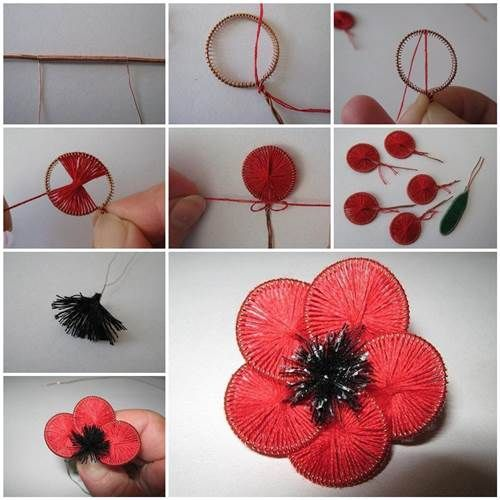 How to Make Beautiful Flowers from Wire and Thread #schöneblumen
