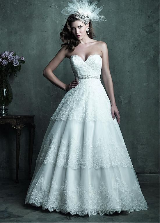 CHIC TULLE A-LINE SWEETHEART NECKLINE RAISED WAISTLINE WEDDING DRESS IVORY WHITE LACE BRIDAL GOWN HANDMADE CUSTOM