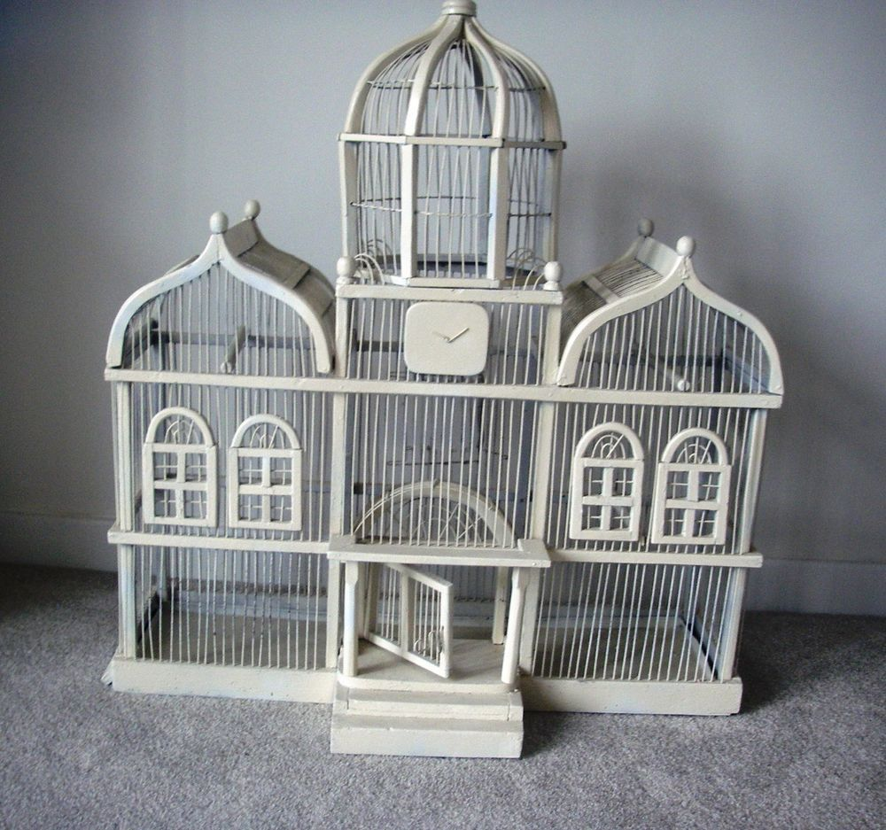 Bird Cage, antique, shabby, vintage, display only. Oriental, interior decor.