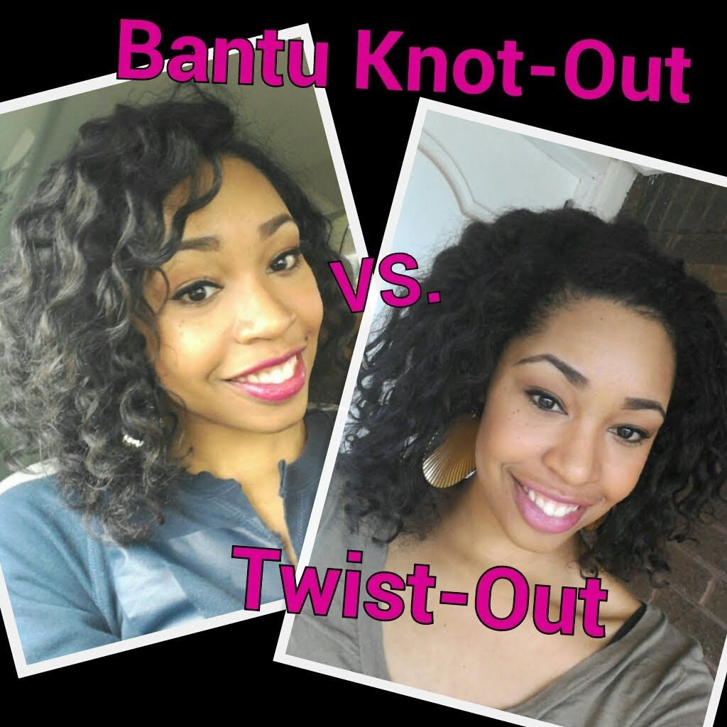 25. Twist-out vs Bantu Knot-out Style Battle Tutorial on Natural ...