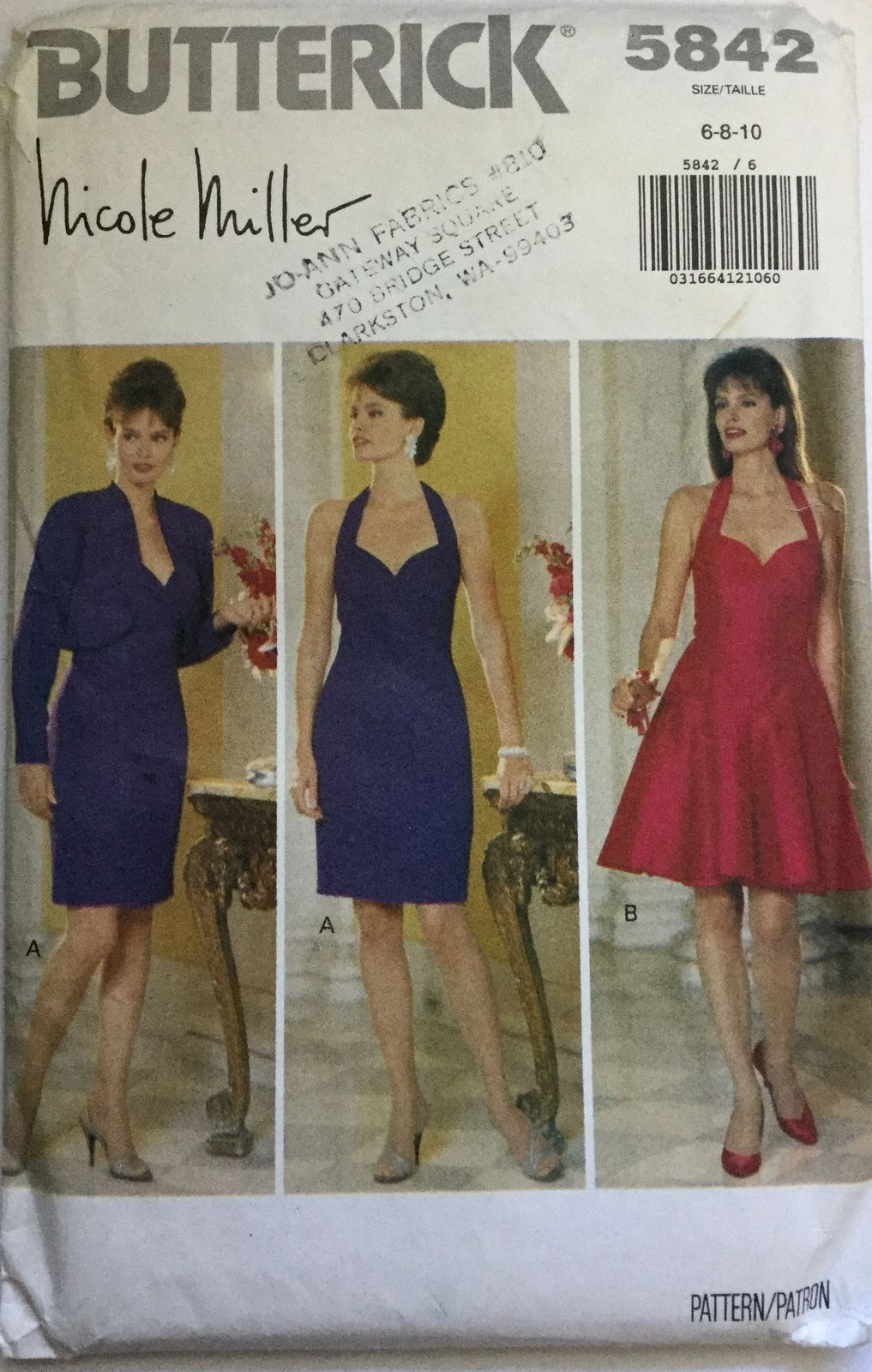 d0f8c5bfc768e Butterick Sewing Patterns, Miss Dress, Bolero Jacket, Nicole Miller, Shrug  Sweater