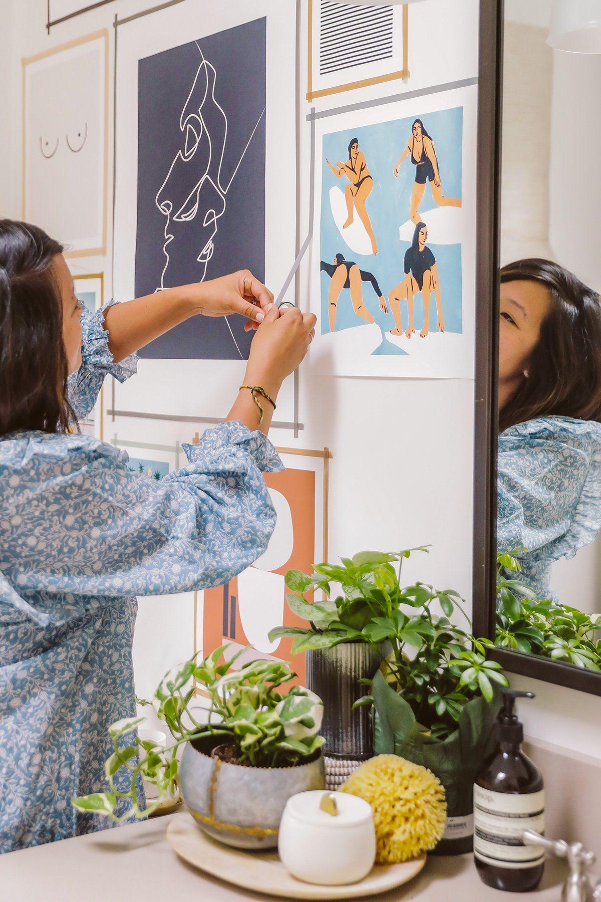 DIY Washi Tape Gallery Wall | Tape wall art, Diy washi ...