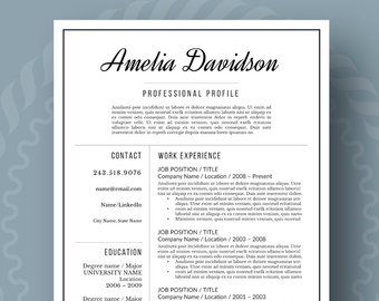 Reference Page Resume Template Beauteous Modern Resume Template For Word 13 Page Resume  Cover Letter  .