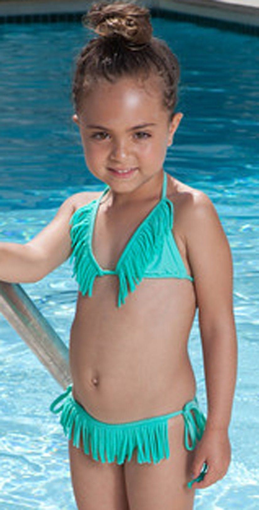 72dddc7b0cb06 PilyQ 2013 Kids Blue Fringe Bikini - Swimsuits | KIDS' STUFF ...