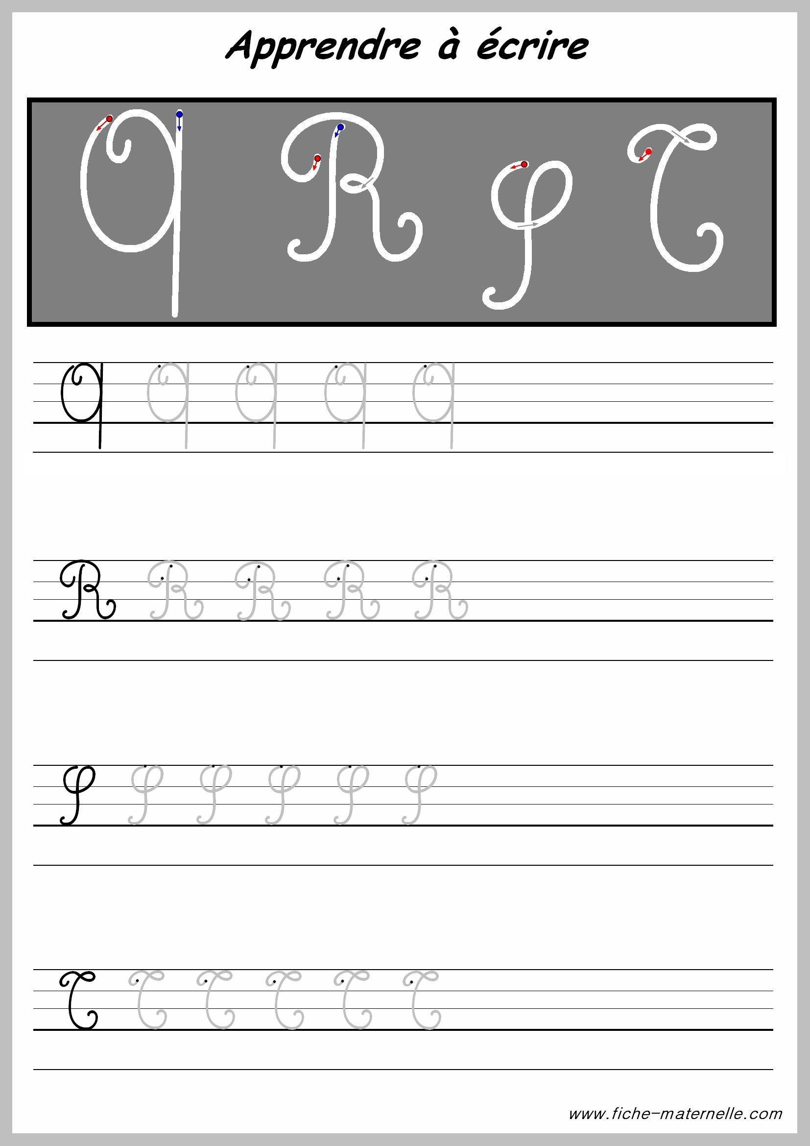 Exercices pour crire les lettres majuscules learn - Lettre alphabet majuscule ...