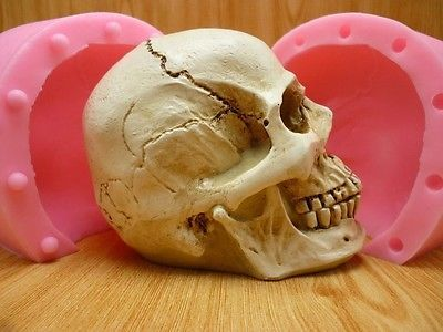 Anatomy Silicone Mold Skull For Cake Bake Soap Candle Chocolate 3d Mold Horror