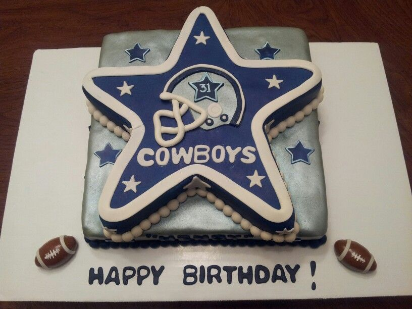 Dallas Cowboys Happy Birthday Cake Cakepins Dads 70th