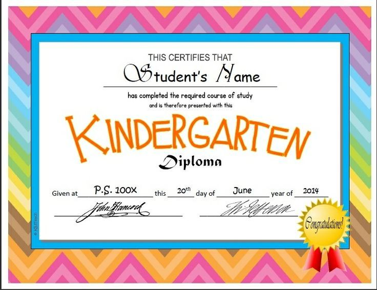 Kindergarten \ Pre-K Diploma\/Certificate Templates Autism - free templates for certificates of completion
