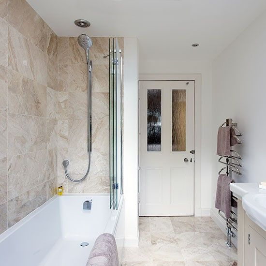 Marble Bathroom With Shower Over Bath Shower Over Bath Bathroom Interior Bathroom Layout