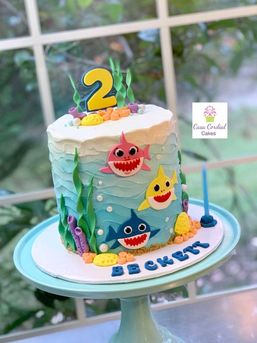 Baby Shark Do Do Dodo Dodo Baby Birthday Cakes 2nd Birthday Cake Boy 2nd Birthday Cake Girl
