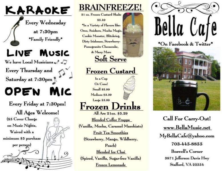 bella cafe menu designer unknown typography design cafe menu