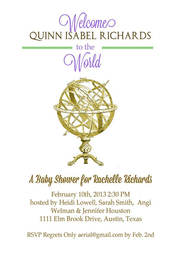 Welcome to the World Baby Shower Invitation by TheMagnoliaVault ...