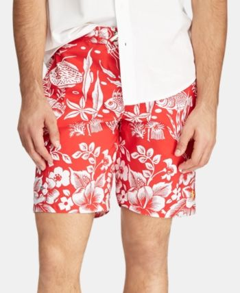 0af4d9eedf Polo Ralph Lauren Men's Big & Tall Kailua Swim Trunks - Underwater Coral 4LT