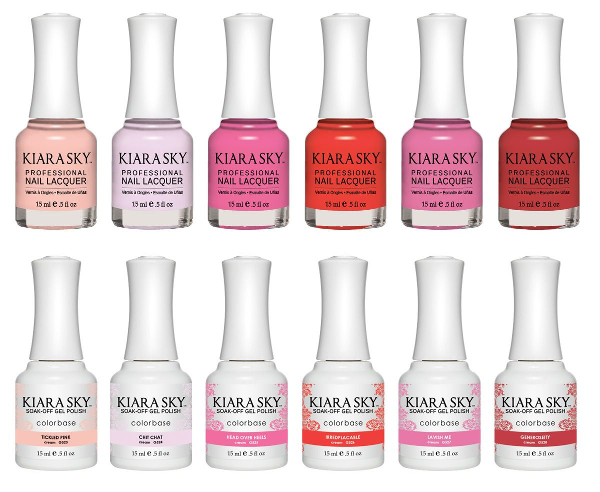 Kiara Sky\'s Aura collection has a set of matching lacquers and gels ...