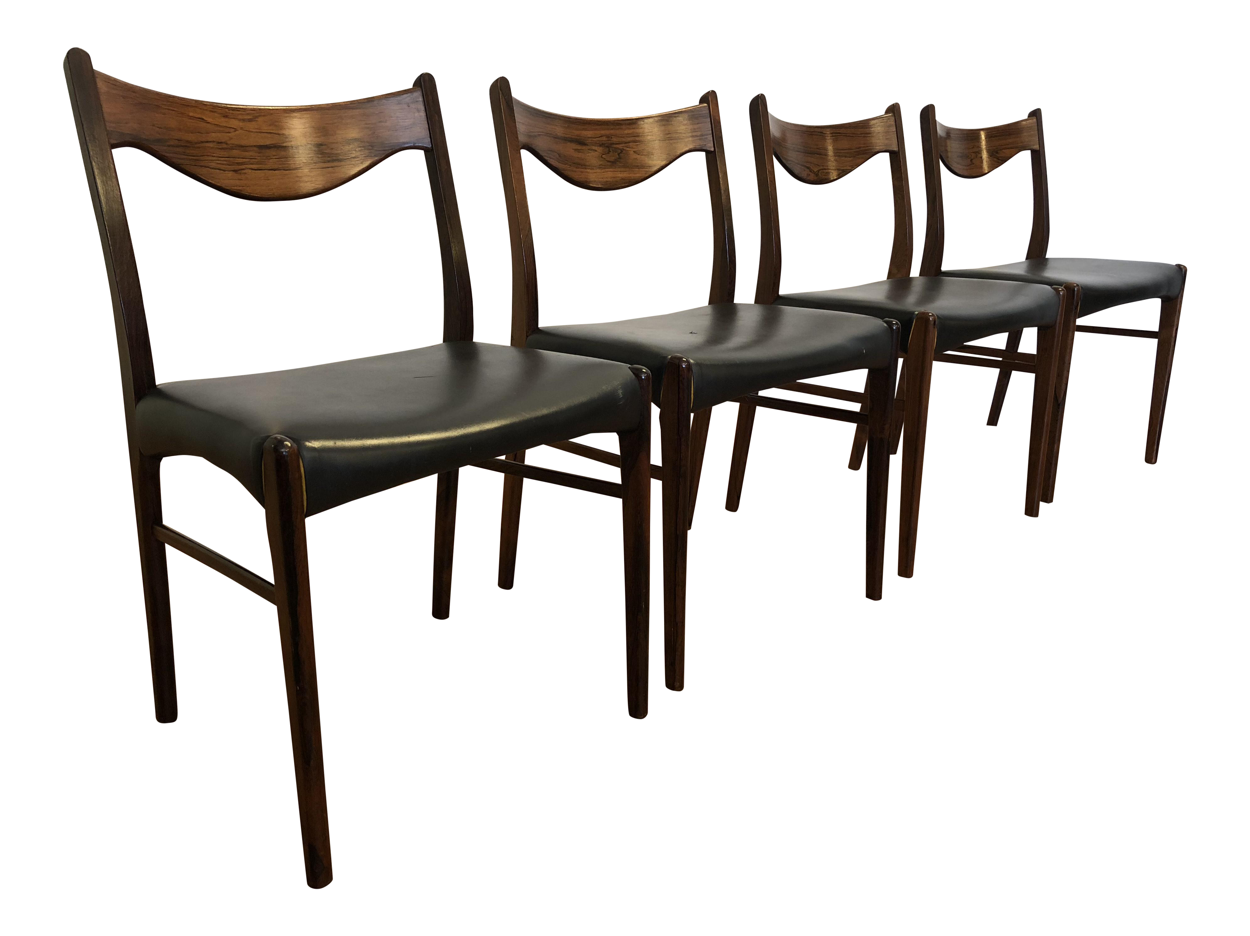 Arne Wahl Iversen Rosewood Dining Chairs Set of 4