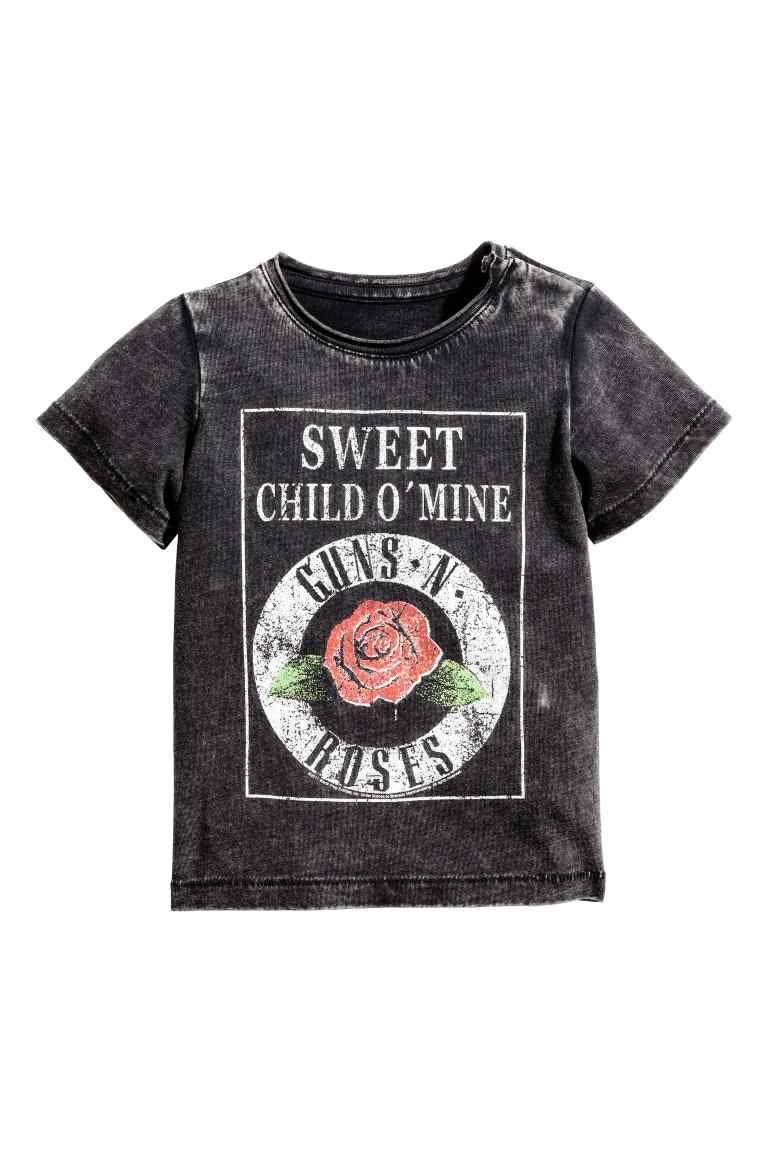 Camiseta estampada - Negro Guns N  Roses - NIÑOS  d19f4101488
