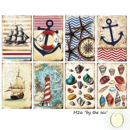 Décorer, La mer - Un ensemble de mini-mini-titres, 7cm x 10,8cm