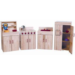 Wood Designs Heritage 4 Piece Maple Kitchen Appliances Set