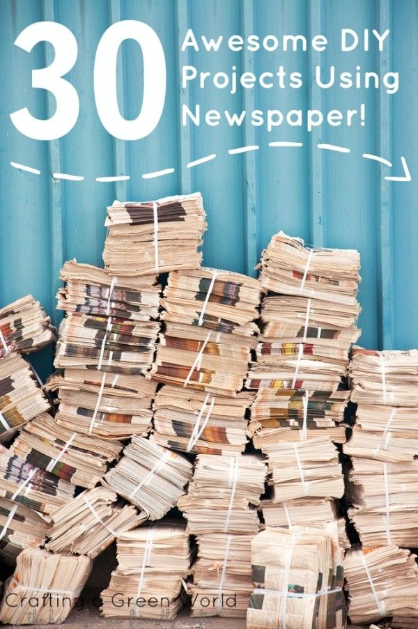 30 Awesome Diy Projects Using Newspaper Crafting A Green World