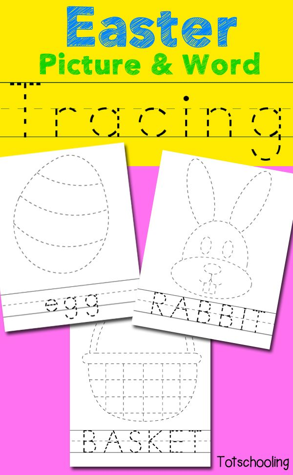 Easter Picture & Word Tracing Printables | Easter pictures, Easter ...