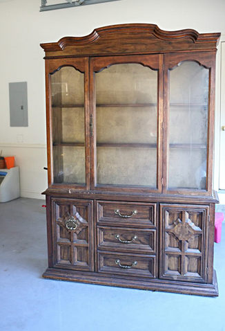 Superior Penny Pinched DIY Projects Day 12: Update Veneered China Cabinet