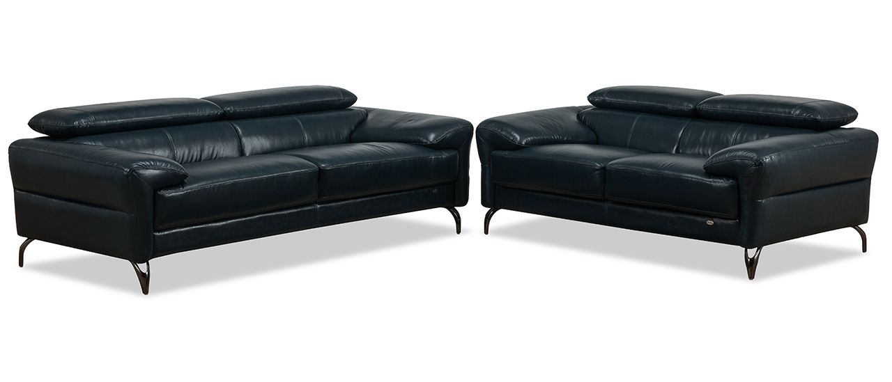 Superb Walsh Leather Adjustable Headrest Sofa Set Leather Like Gmtry Best Dining Table And Chair Ideas Images Gmtryco