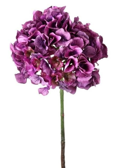Curled hydrangea silk flower stem in plum purple 17 tall pearls curled hydrangea silk flower stem in plum purple 17 tall mightylinksfo