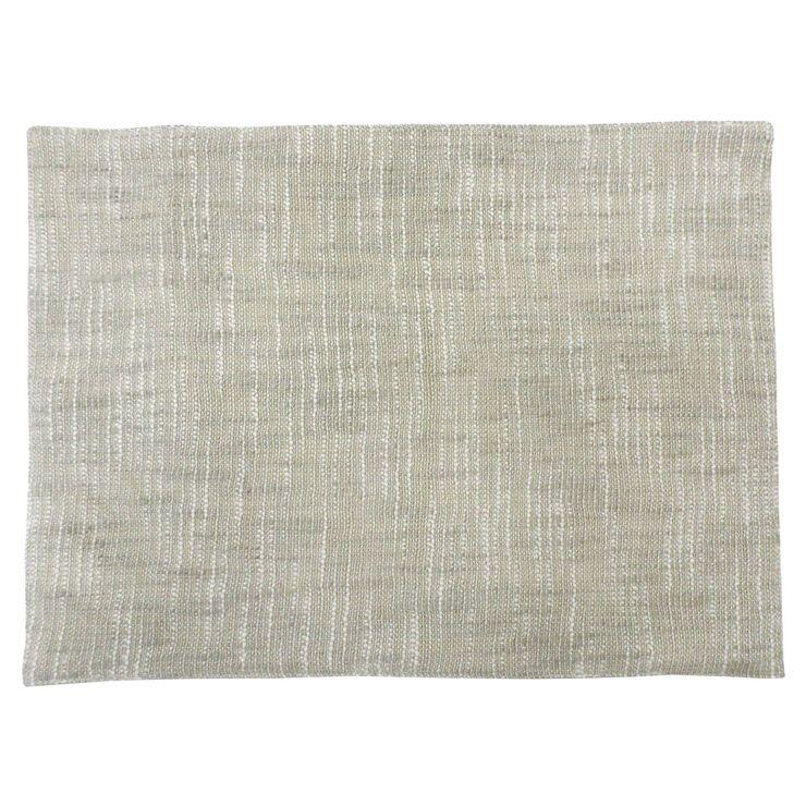Slub Cotton Fabric Beige Colored Placemat Placemats Beige Fabric